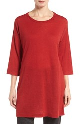 Eileen Fisher Women's Tencel And Merino Wool Blend Tunic China Red