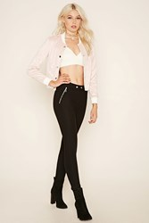 Forever 21 Zippered Skinny Trousers