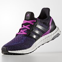 Adidas Ultra Boost Women's Running Shoes Black Purple