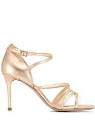 Fabio Rusconi Heeled Spatola Sandals Gold