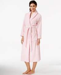 Nautica Plush Textured Long Robe Orchid Pink