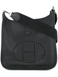Hermes Vintage Evelyne Pm Shoulder Bag Black