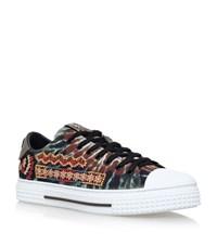 Valentino Beaded Low Top Sneakers Male Green
