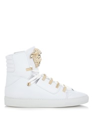 Versace Medusa High Top Leather Trainers
