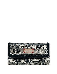 Sakroots Artist Circle Trifold Coated Canvas Wallet Black White