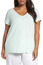 Eileen Fisher Plus Size Women's Organic Slub Cotton Jersey Tee