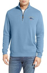 Men's Tommy Bahama 'Classic Aruba' Original Fit Half Zip Sweater Blue Isle