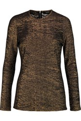 Ellery Metallic Knitted Top Gold