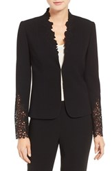 Tahari Women's Elie Corian Lace And Crepe Jacket