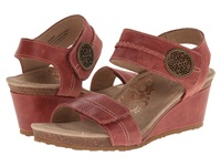 Aetrex Arielle Wedge Sandal Vintage Red Women's Wedge Shoes