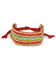 Design Lab Lord And Taylor Beaded Band Tied Bracelet Multi