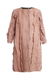 By Walid Lace Applique Cotton Coat Pink