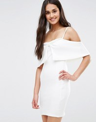 Oh My Love Bow Front Dress White
