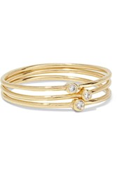 Jennifer Meyer Set Of Three 18 Karat Gold Diamond Rings