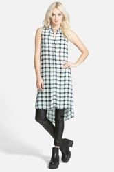 Leith Sleeveless Plaid Tunic Juniors Blue