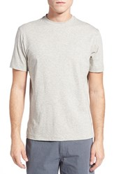 Left Coast Tee Men's Melange Pima Cotton T Shirt Pearl Melange