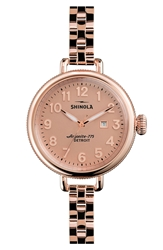 Shinola 'The Birdy' Bracelet Watch 34Mm Rose Gold