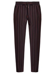 Wooyoungmi Striped Tailored Trousers Red Multi