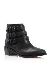 Loeffler Randall Fenton Ankle Buckle Booties Black