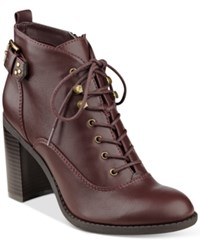 Indigo Rd. Spicy Lace Up Oxford Booties Women's Shoes Wine