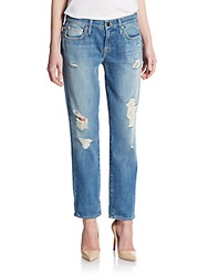 Genetic Denim Alexa Distressed Crop Jeans Angel Blue