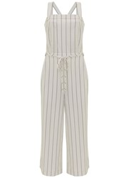 Mint Velvet Stripe Wide Leg Jumpsuit Multi Coloured Multi Coloured