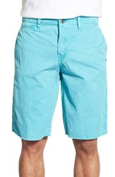 Men's Original Paperbacks 'St. Barts' Raw Edge Shorts Aqua