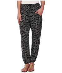 Roxy Sunday Noon Pant True Black Mirage Marking Women's Casual Pants Multi