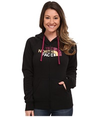 The North Face Half Dome Full Zip Hoodie Tnf Black Dramatic Plum Multi Women's Fleece