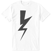 Neil Barrett Abstract Bolt Tee White