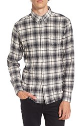 Naked And Famous Men's Denim Regular Fit Plaid Flannel Sport Shirt White