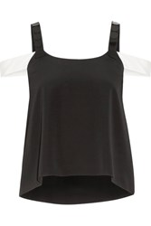 Maiyet Embellished Silk Crepe Top Black