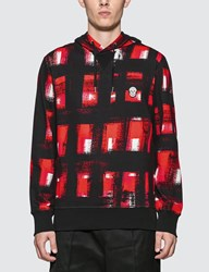 Alexander Mcqueen Painted Checker Hoodie Red