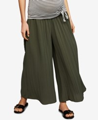 A Pea In The Pod Maternity Pleated Wide Leg Soft Pants Olive