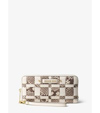 Vivian Woven Leather Continental Wallet