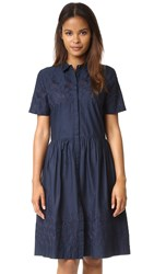 Chinti And Parker Broderie Schoolgirl Dress Navy