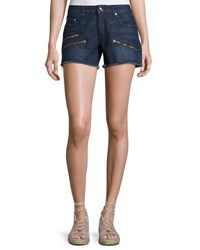 Derek Lam Quinn Mid Rise Slim Girlfriend Jean Cutoff Shorts Indigo