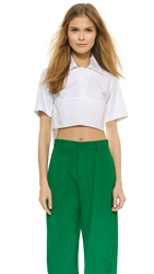 Dsquared Short Sleeve Crop Top White