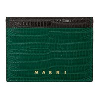 Marni Green Snake Vanitosi Card Holder