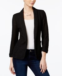 Maison Jules Three Quarter Sleeve Knit Blazer Only At Macy's Deep Black