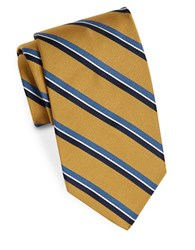 Brooks Brothers Striped Silk Tie Yellow