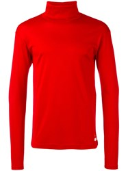 Gucci Turtleneck Jumper Men Cotton L Red