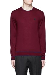 Alexander Mcqueen Skull Patch Cashmere Sweater Red