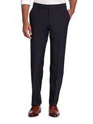 Jack Victor Wool Check Trousers Navy