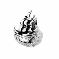 Metal Couture Classic Ship Ring Silver