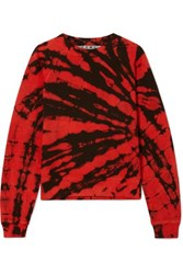 Proenza Schouler Tie Dyed Cotton Terry Sweatshirt Red