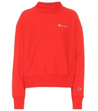 Champion Cotton Blend Sweatshirt Red