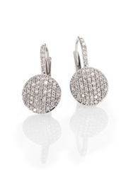 Phillips House Diamond And 14K White Gold Disc Drop Earrings