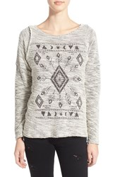 Junior Women's Project Social T 'Elements' Graphic Boucle Pullover
