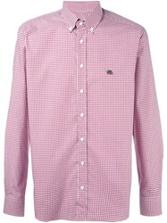 Etro Checked Shirt Pink And Purple